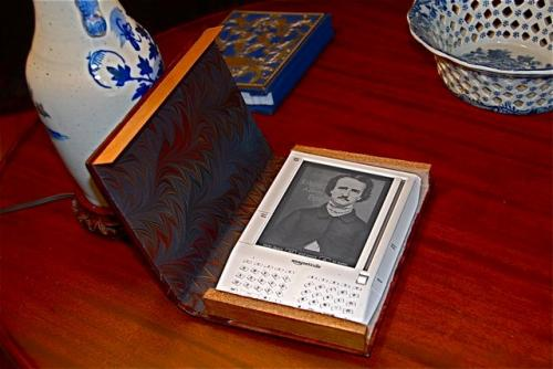 Hand made Kindle case designed to look like a book
