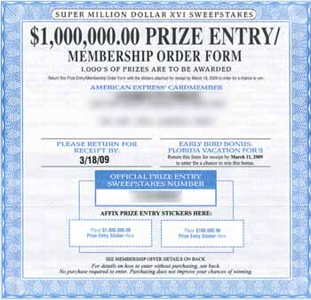 Super Million Dollar XVI Sweepstakes